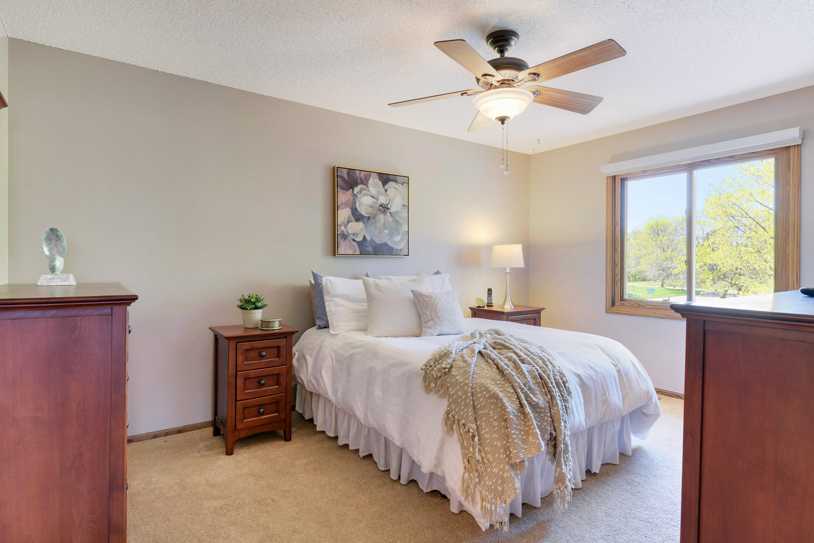 Large Master bedroom with walk in closet