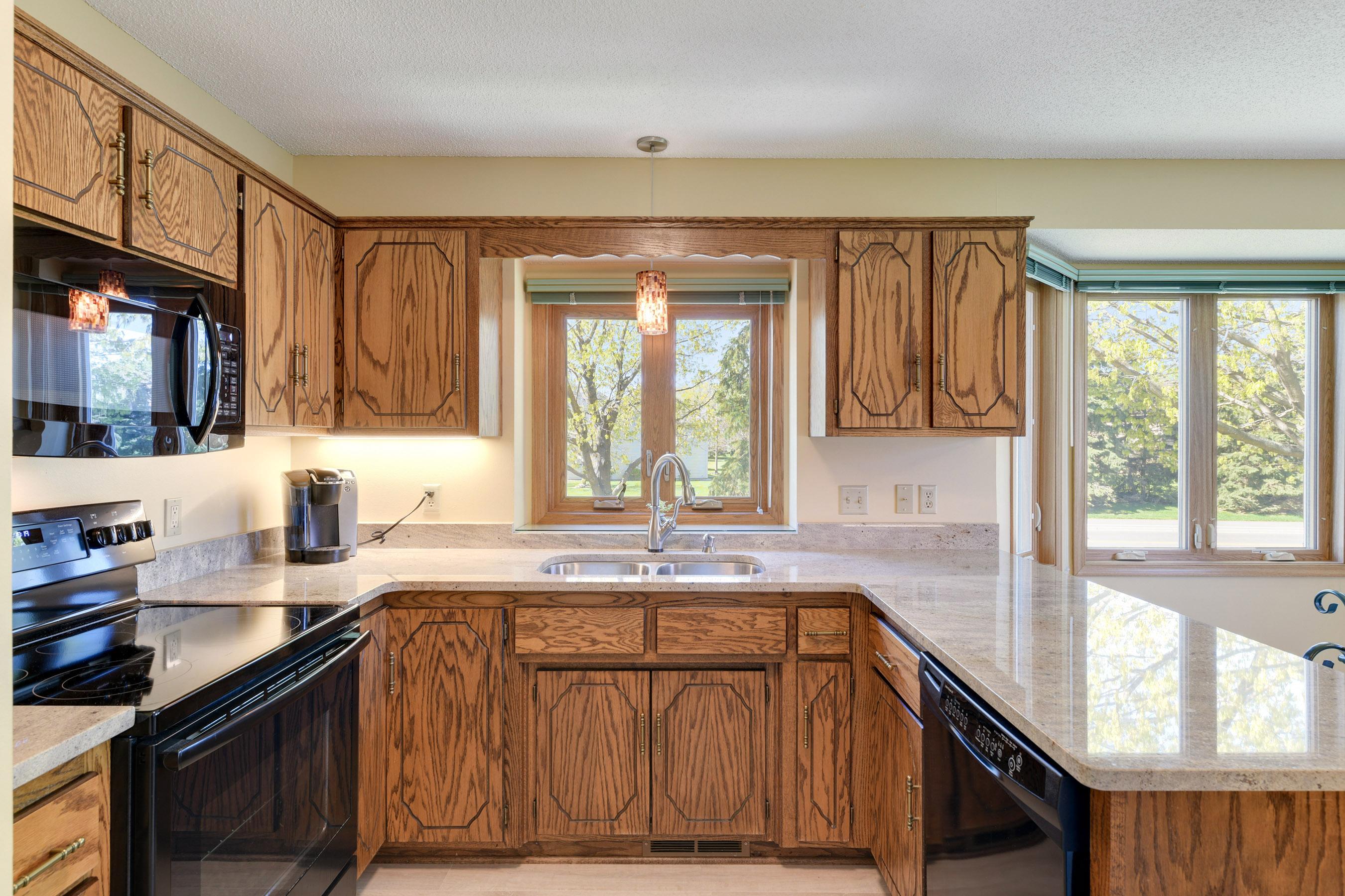 Beautiful updated large kitchen.